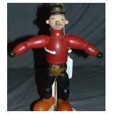 Unique Folk Art Style Wood Jointed Wimpy Doll