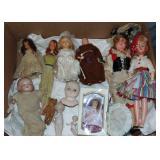 (12) Piece Doll Lot.