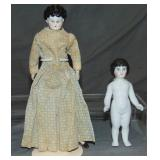 Lot of Two China Dolls.