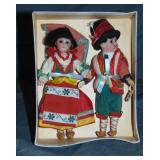 Pair of Bisque Head dolls.