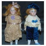 Pair of All Bisque Dolls.