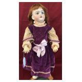 German Bisque Head Doll.