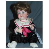 K*R Simon & Halbig Bisque Head Boy Doll