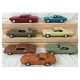 Lot of Seven Promo Model Cars.