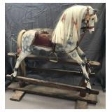 Vintage Wooden Horse Glider.
