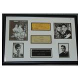 Lucille Ball and Desi Arnaz Signed Checks.