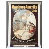 Hamburg Amerika Line Poster, F. Schwormstadt