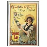 Circa 1910 French Wine Advertising Poster
