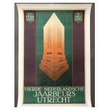 1920 Dutch Advertising Poster, Jaarbeurs Utrecht