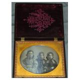 Scarce 1/2 Plate Thermo Case w/ Daguerreotype