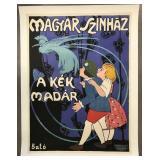 c.1915 Magyar Szinhaz Poster, Josef Bato