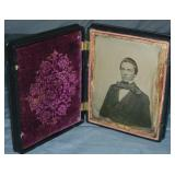 1/4 Plate Ambrotype in Full Union Case