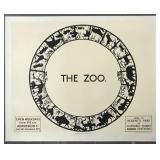 "1923, London Underground Poster ""The Zoo"" by Mochi"