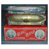 Lot of Two Zeppelin Harmonicas.