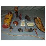 Collectible Lot, Paperweights, Carvings, Etc