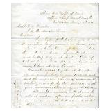 1866 Dept of Texas, Chief Quartermaster Letter