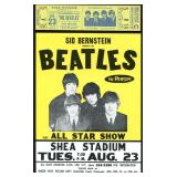 1966 Beatles Shea Stadium Unused Ticket