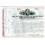 William H. Vanderbilt, Signed RR Stock Certificate