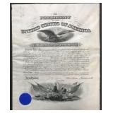 1906 Roosevelt & Taft Signed Military Appointment