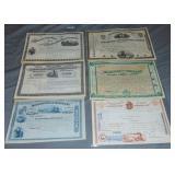 Stock Certificates.