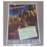 "WW2 Poster, ""Put Them Across"", John Falter"