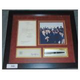 Lyndon B. Johnson, Bill Signing Pen & Letter, 1965