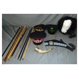 Military Hat and Accessory Lot.
