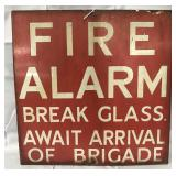Fire Alarm Porcelain Sign