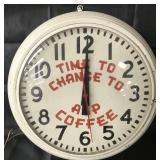 A & P Coffee Advertising Clock