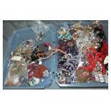 Tub of Costume Jewelry.
