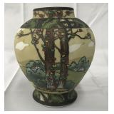 Nippon Woodland Scene Vase.