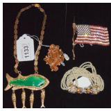 Designer Vintage Costume Jewelry. Lot of  4.