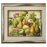 Philippe Auge, Oil on Canvas, Fruit Still Life