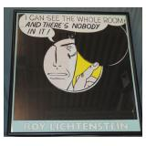 """Roy Lichtenstein Print, """"I Can See the Whole Room"""""""