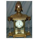 Seth Thomas Art Nouveau Figural Mantel Clock