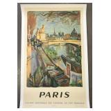 1953 PARIS Travel Poster, Andre Planson