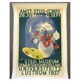 1937 Dutch Flower Show Exhibition Poster, Kropman
