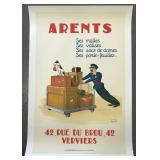 Arents French Advertising Poster, Charles Legros