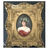 Beautiful Porcelain Plaque, Signed Wagner