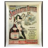 French Advertising Poster, Amaranthe Bitter