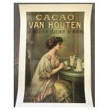 Early Dutch Cocoa Powder Advertising Poster