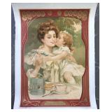 """Early French """"Olibet"""" Biscuits Advertising Poster"""