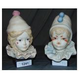 Cybis. Porcelain Clown Busts. Lot of 2
