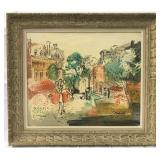"""Charles Cobelle, Oil on Canvas """"Paris Landscape"""""""