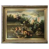 Large Oil on Canvas Painting, Signed W. Boucher