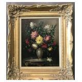 Oil on Canvas Floral Still Life, Judith Balogh