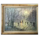 Bertram Alper, Abstract Watercolor on Paper