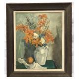 """Dorothy M. Hughes, Oil on Canvas """"Still Life"""""""