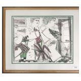 Alexandre Fassianos, Signed Limited Ed Lithograph