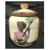 Nippon. Black  Americana Tobacco Jar.
